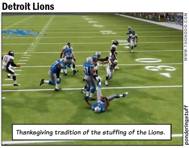 Detroit Lions on Thanksgiving Day